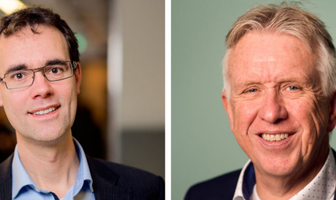 Erwin Bleumink (links) en Jan Bakker (rechts)