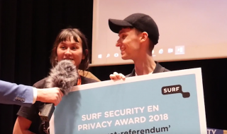 studenten ontvangen SURF Security en Privacy Award 2018