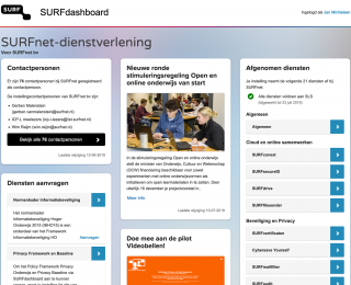 Screenshot SURFdashboard 2019